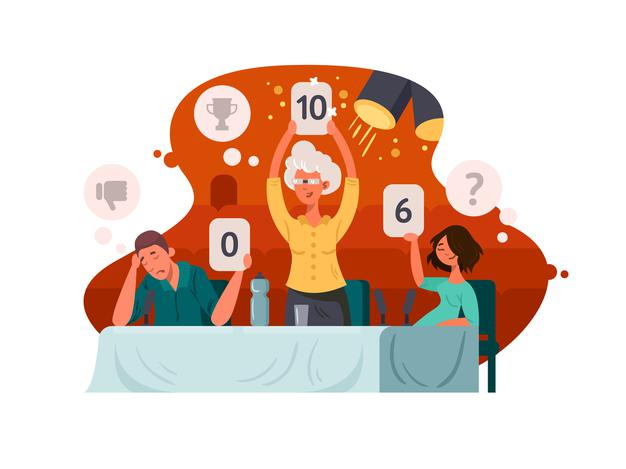 judge-television-contest-group-judges-exposes-assessment-vector-illustration_275655-657